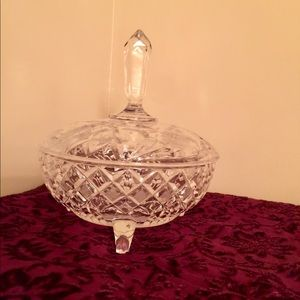 Crystal bowl with lid container display candy